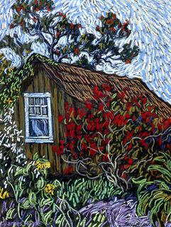Hanapepe Camphouse with Poinsettia