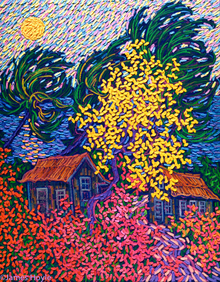 The Gold Tree in full bloom has become a recurring theme in James' work.