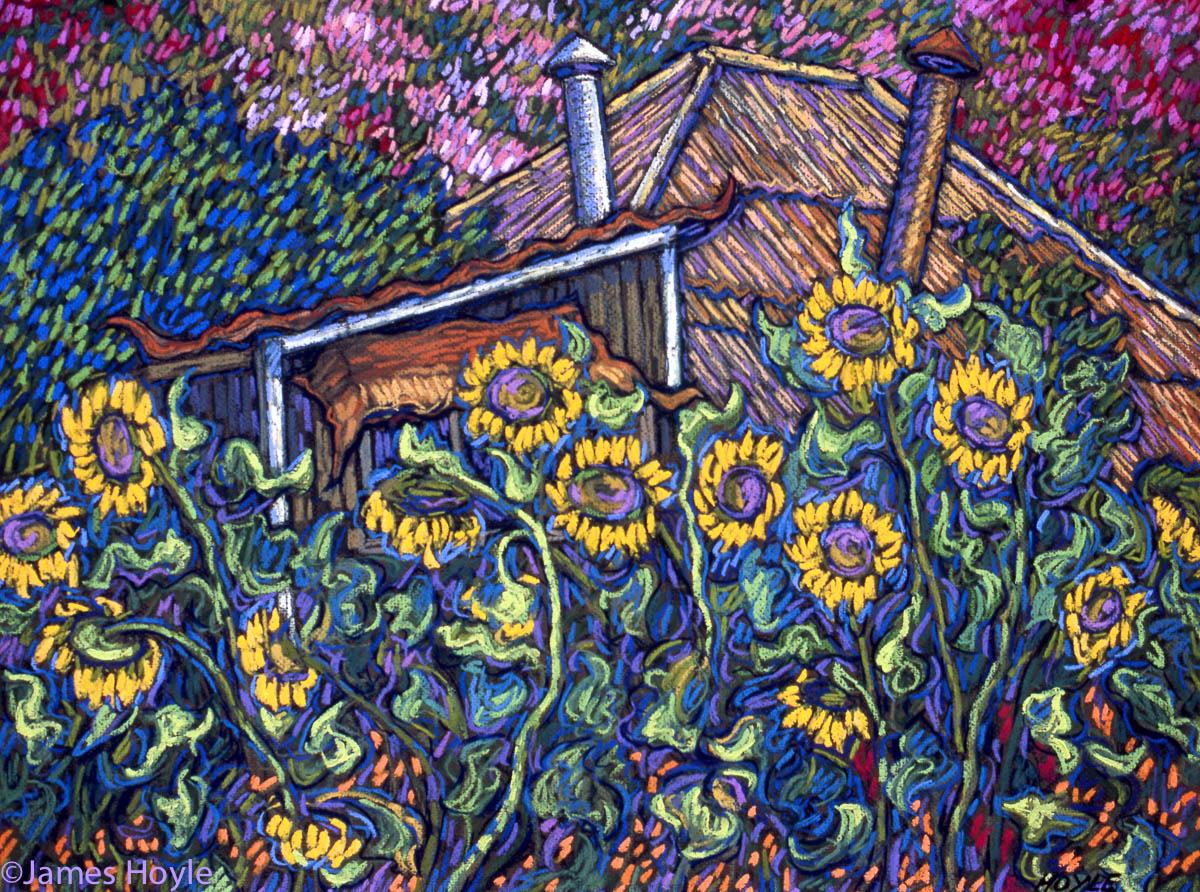 Saimin Corner with Sunflowers